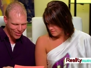 Swinger couple is ready for a hot masturbation game