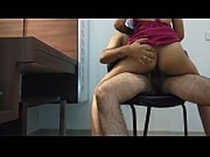 mohini just married bride babydoll honeymoon sex on the chair in full HD desi...