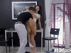 Engaging russian girlie cums again and again