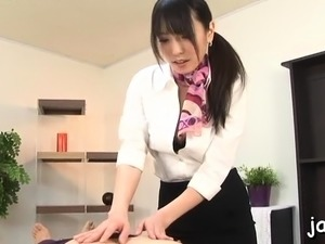 Staggering asian Chika Arimura blows and gets fingered