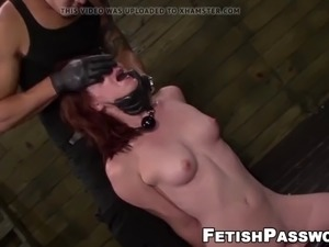Redhead babe emma evins dominated by big cock and toys