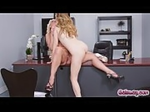 Karla Kush lavishes Katie Morgan&#039_s pussy with her tongue licking her...