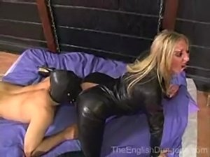 Leather catsuit sex