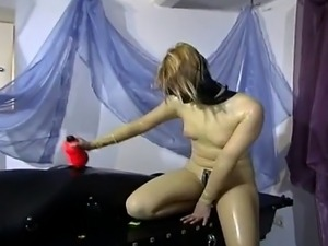 Wild domina with fantastic body enjoys punishing her horny slave