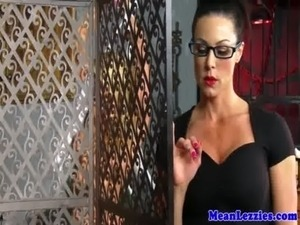 Lesbo babe Alexis Monroe dominated by milf free