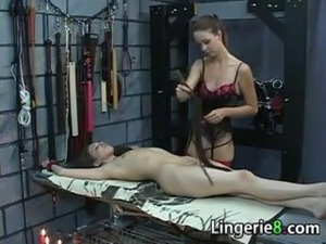 Beautiful girls being very naughty in their dungeon