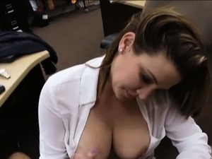 Foxy business woman fucked by pawn man after making a deal
