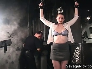 Nasty brunette Catherine is sex slave part5