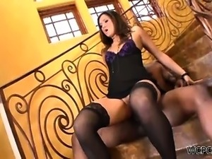 Cece Stone loves a huge black cock in the ass