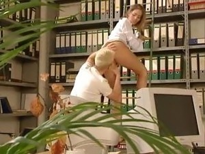 very hot german sex in office