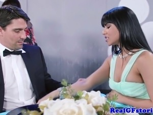 Real exgf gets facialized after fucking and sucking hard cock