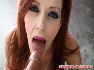 Canada's Dirtiest MILF Shanda Fay Gives BJ in Garage! free
