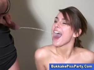 Pee free bukkake