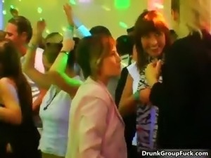 drunk girl behind video