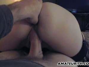 A cute blonde amateur girlfriend homemade suck and fuck action with cumshot...