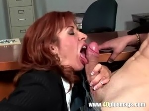 Frustrated mature enjoys young dick free