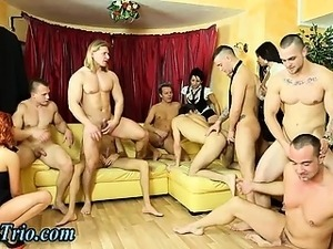 Bi curious dudes and hoes orgy fucking