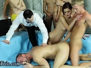 Bi guys slamming ass in group orgy