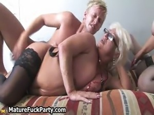Dirty old blonde bitch gets fucked part1