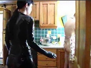 The slave has not being doing his duties properly,mistress is very angry with...