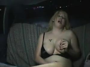 Fat Girl Masturbates The Back Of A Taxi