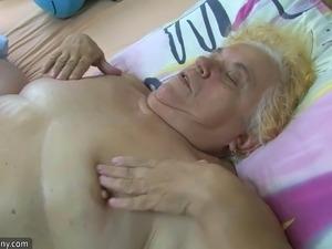 Sexy nurse masturbating old chubby granny, to help will also guy