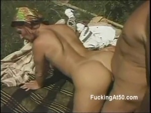 Hot ass 50yo woman fucks husband doggystyle outdoors free