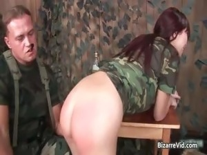 Two hot sexy horny army slut gets part4
