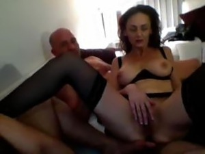 Bi couple invites over another to have sex with both of them