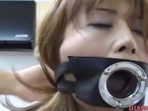 japanese office whore demands extreme bound sex from her colleague.