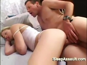 Pretty Blonde Gets Nailed While She Sleeps