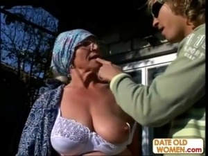 Granny Gets Reamed By Young Stu ... free