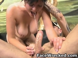Brunette Amateur Very Rough Face And Anal Fucking