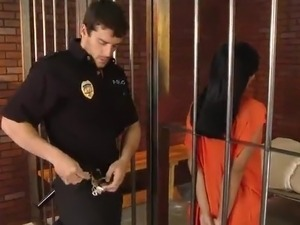 Exotic Inmate Evanni Solei has An Anal bang From A Guard inside Prison