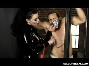 Hot BDSM Whipping