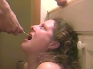 piss drinking bitch swallows cum
