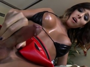 Shemale cums after bj