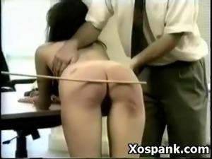 Amazing Spanking Gal Explicit Makeout