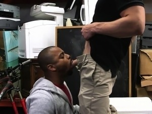 pretty blonde fucks black guy