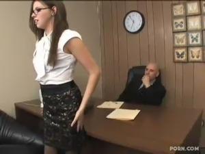 Sexy secretary boobs