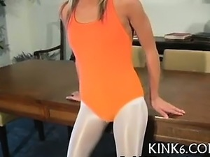 Perverted teaser in sexy hose