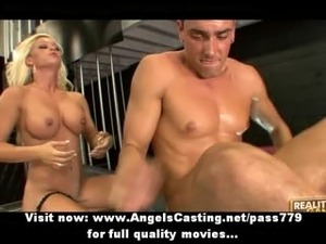 Innocent sexy blonde slut doing blowjob and fucking
