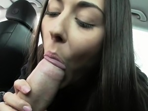 Beautiful Czech babe banged in fake taxi