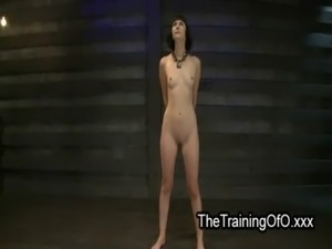 Tied up brunette slave tits zippered free