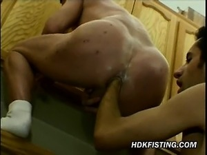 Ass Fisting in the Kitchen