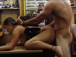 Latina police officer fucked by pawn man at the pawnshop