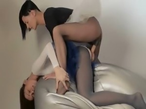 Young princess gets strap on banged
