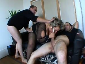 French mature Angela gangbanged