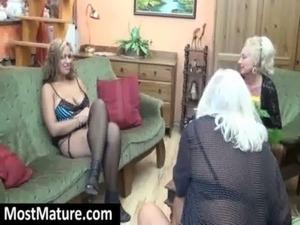 MILF teasing a lesbian granny free