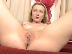 In this second video, Ava plays with her cameltoe. Her